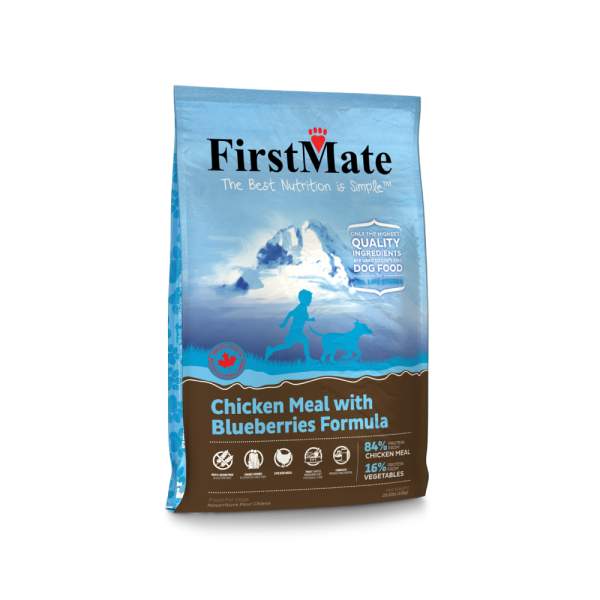 FirstMate crocchette per cani formula Pollo e Mirtilli